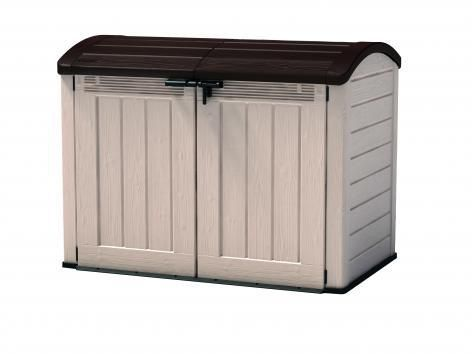 Zahradní úložný box STORE 120 x 146 x 82 cm - béžová / hnědá