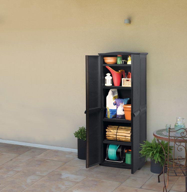 Plastová úložná skříňka TALL SHED - 179 x 70 x 50 cm