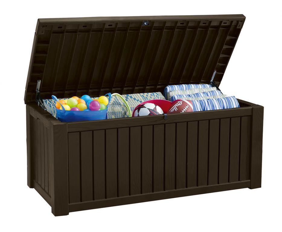 Zahradní úložný box ROCKWOOD 65 x 76 x 155 cm – hnědý