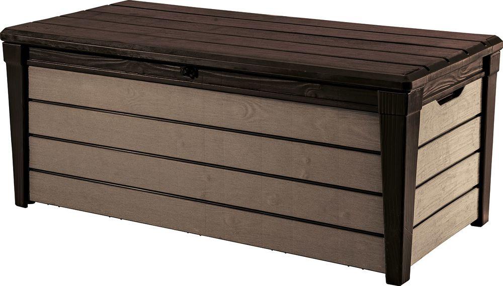 KETER BRUSHWOOD Storage zahradní úložný box, 455 l, antracit/šedá 17202631
