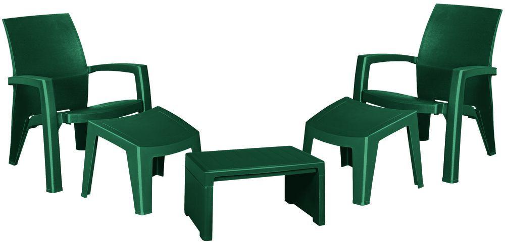 Zahradní plastový set LAGO MAXI – zelený