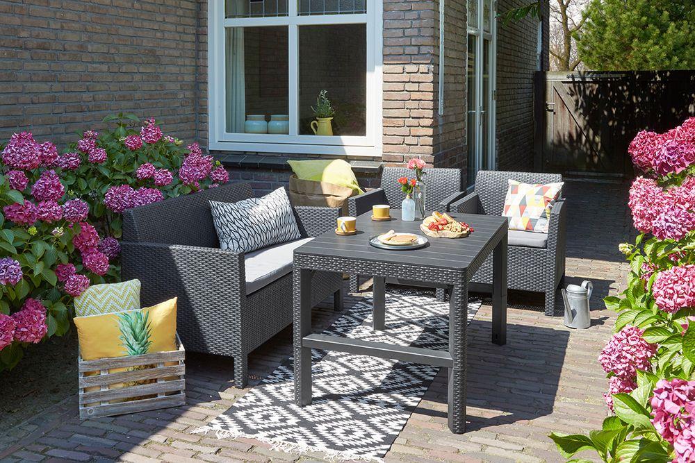 Zahradní plastový stůl LYON 116 x 72 cm - grafit