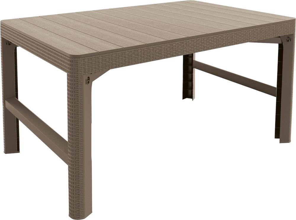 Zahradní plastový stůl LYON 116 x 72 cm – cappuchino