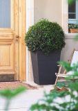 Květináč ratanového vzhledu plastový - L