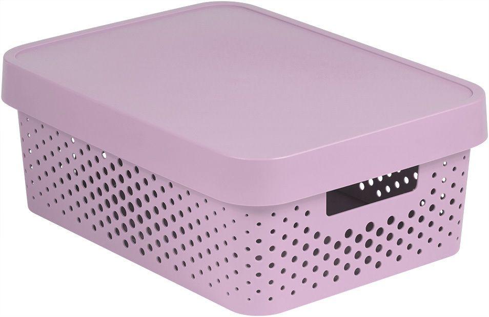 Úložný box INFINITY DOTS 11L – růžový