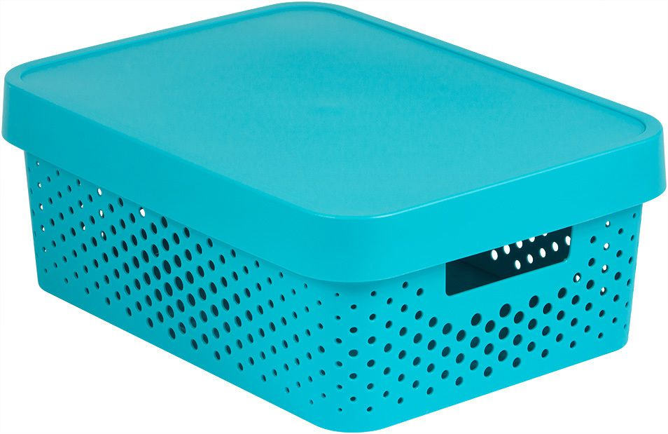 Úložný box INFINITY DOTS 11L – modrý