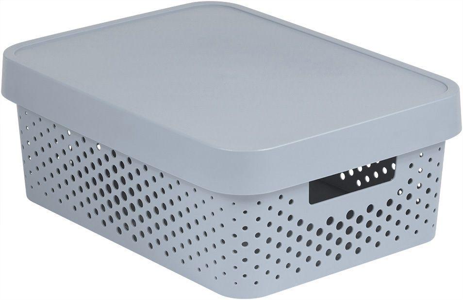 CURVER Úložný box INFINITY DOTS 11L - šedý R41561