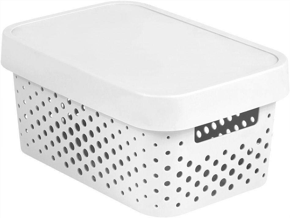 Úložný box INFINITY DOTS 4,5L – bílý