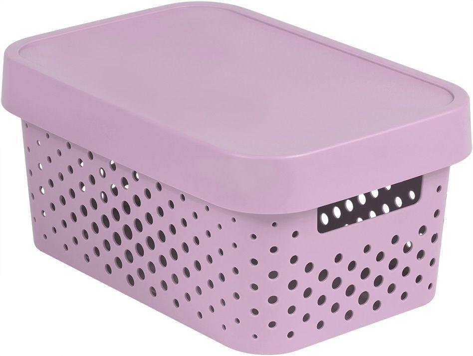 Úložný box INFINITY DOTS 4,5L - růžový