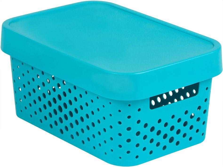 Úložný box INFINITY DOTS 4,5L – modrý