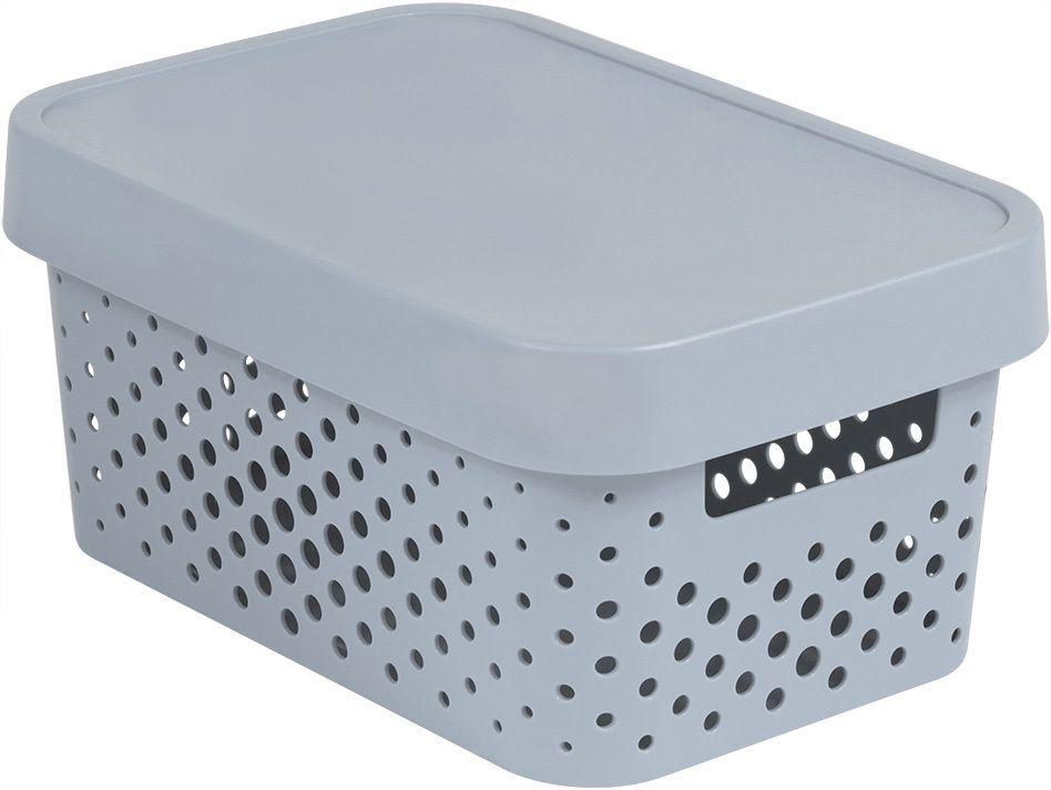 CURVER Úložný box INFINITY DOTS 4,5L - šedý R41569