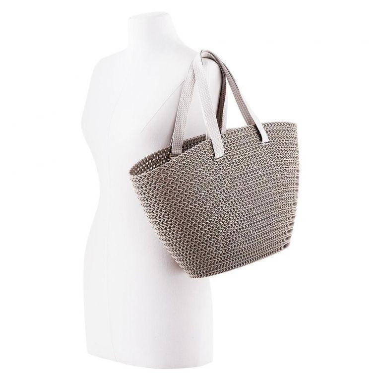 Nákupní taška EMILY KNIT - hnědá