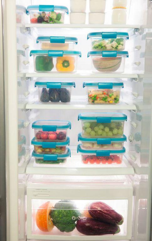 Dóza na potraviny SMART FRESH 0,9L - modré víko