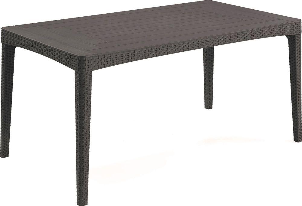 ALLIBERT GIRONA zahradní stůl 160 x 90 x 74cm, grafit 17204424