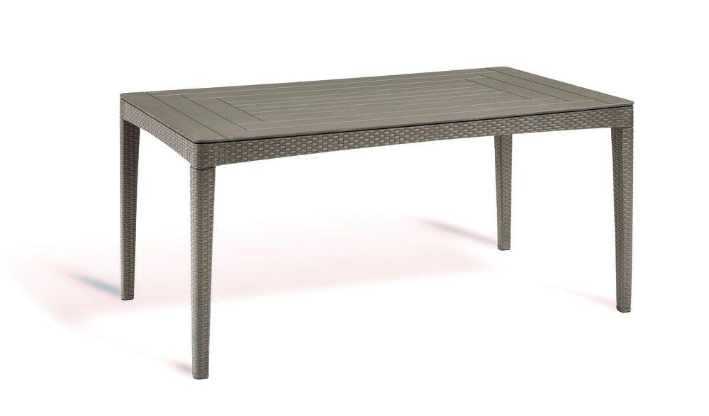Polyratanový zahradní stůl GIRONA - cappucino