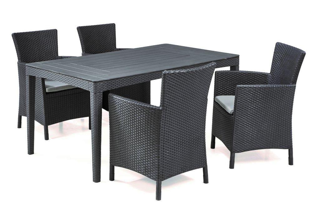 Polyratanový zahradní stůl GIRONA – cappucino
