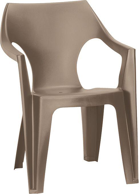 Allibert 54604 Plastové nízké zahradní křeslo DANTE - cappucino