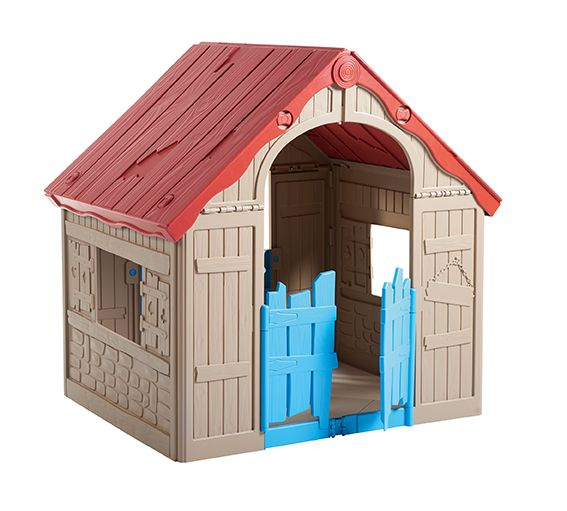 Dětský hrací domek FOLDABLE PLAYHOUSE – béžový