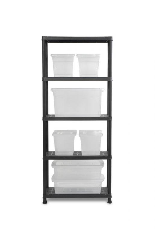 Plastový otevřený regál PLUS 75/5 - 176 x 75 x 32 cm