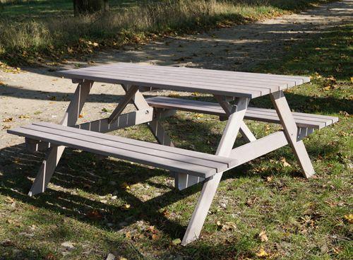 Zahradní set PIKNIK šedý - 160 cm