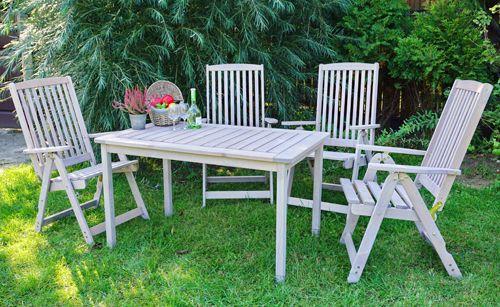 Zahradní křeslo dřevěné HOLIDAY - šedá