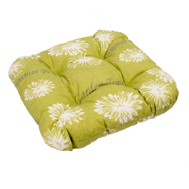Podsedák SŮSA zelená s květinou 30368-211