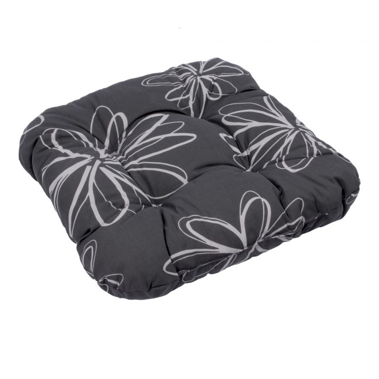Podsedák SŮSA černá s květinou 30200-700