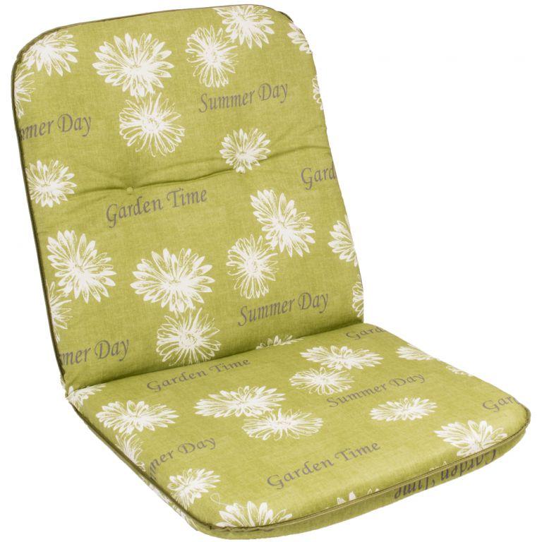 Sedák na nízké křeslo SCALA NIEDRIG zelená květina 30368-211