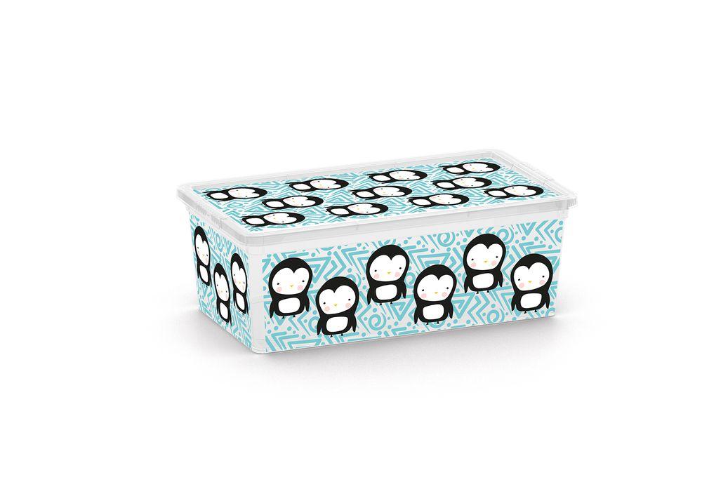 Plastový úložný KIS C box ANIMAL – XS – tučňák