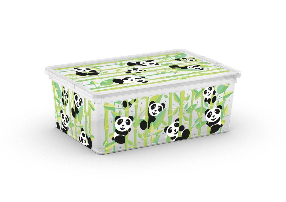Plastový úložný box KIS C ANIMAL – S – medvídek panda