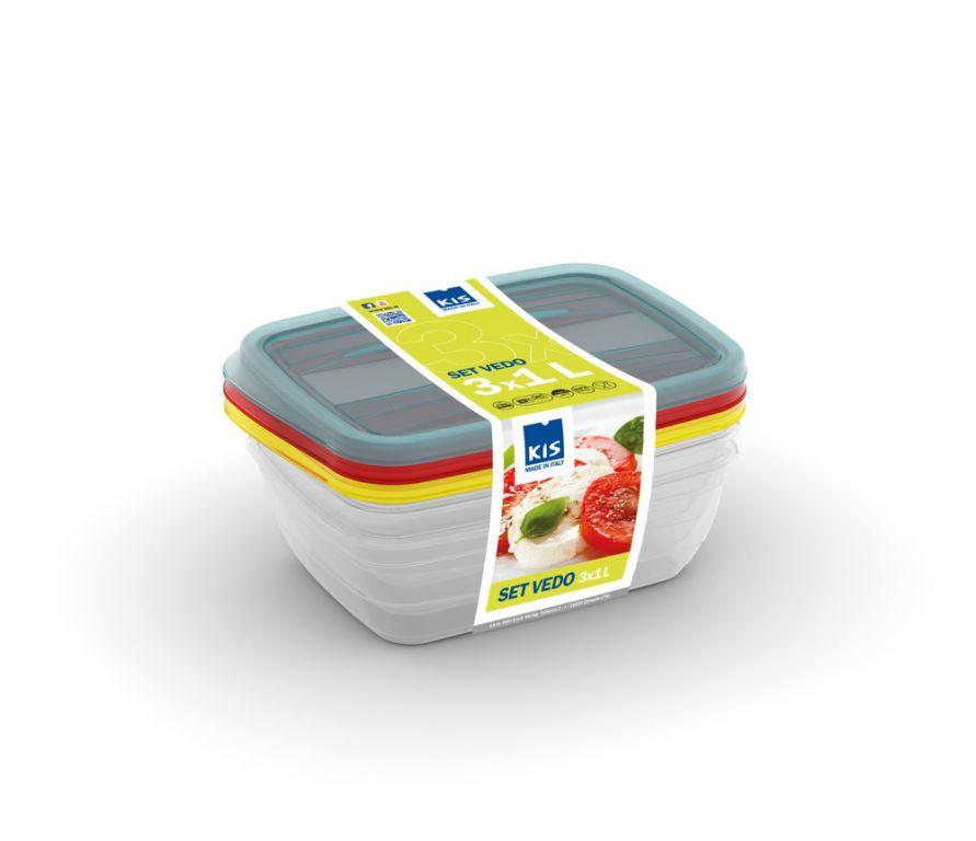 Set potravinových dóz VEDO - 3x1L