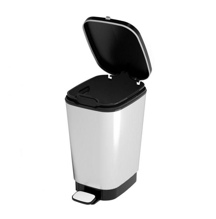 Odpadkový koš CHIC  50 L – stříbrný