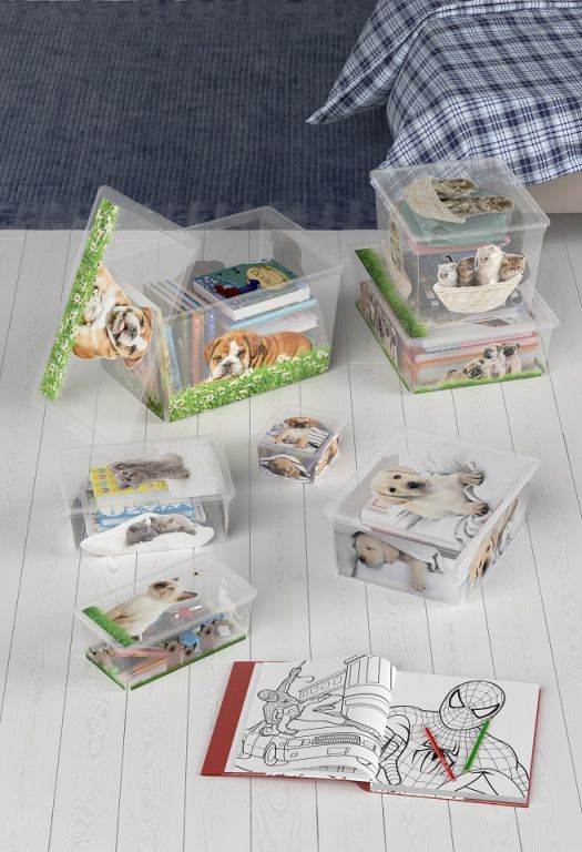 Plastový box KIS Puppy and Kitten – L