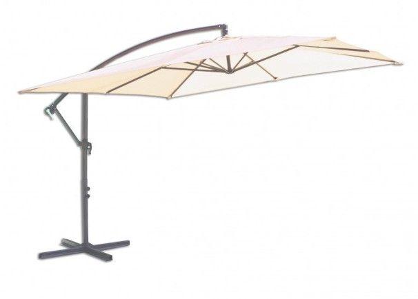 Čtvercový slunečník 8080 boční béžový 270 x 270 cm - byl jednou vyzkoušen, v pořádku, plně funkční