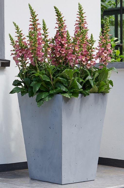 Plastový květináč BETON CONIC – 40 x 40 cm