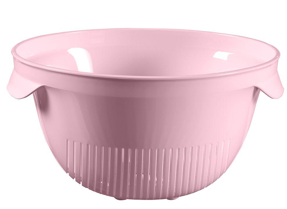 Plastový cedník ESSENTIALS kulatý - růžový