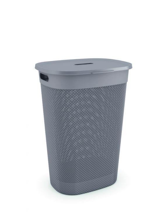 Plastový koš na prádlo FILO – hnědošedý