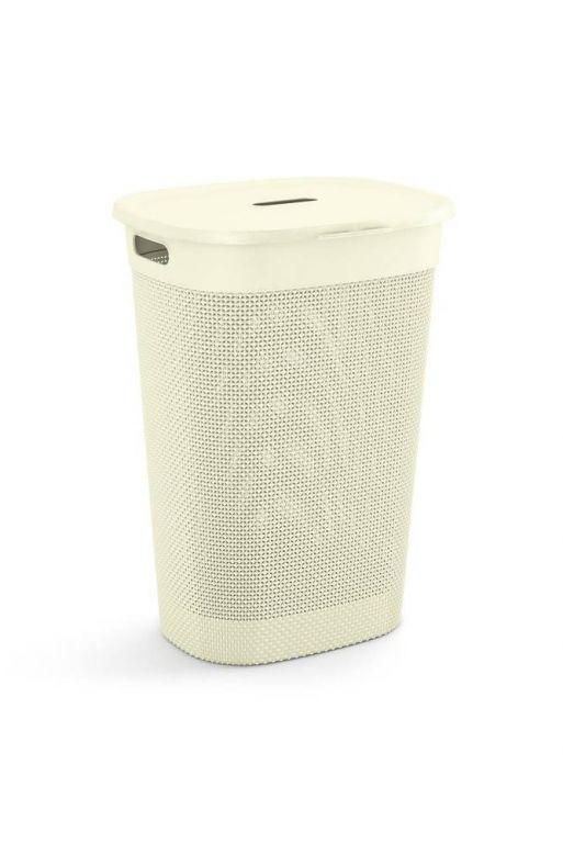 Plastový koš na prádlo FILO – krémová