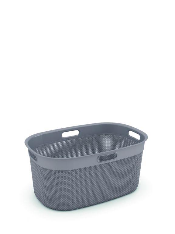 Plastový FILO koš na čisté prádlo – hnědošedá