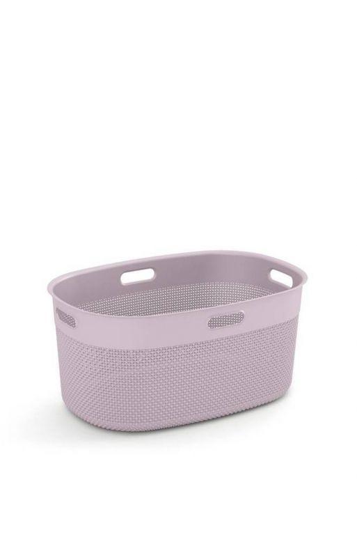 Plastový koš FILO na čisté prádlo – růžový