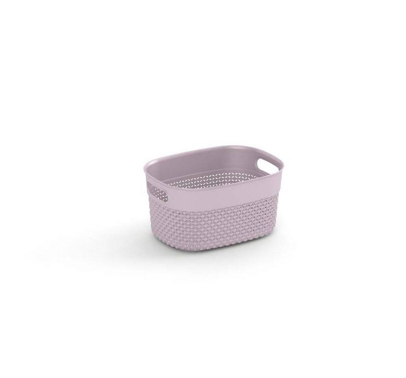 Plastový košík FILO XS – růžový