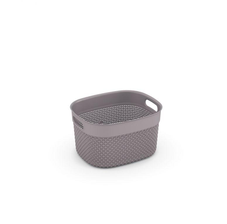 Plastový košík FILO S – hnědošedá