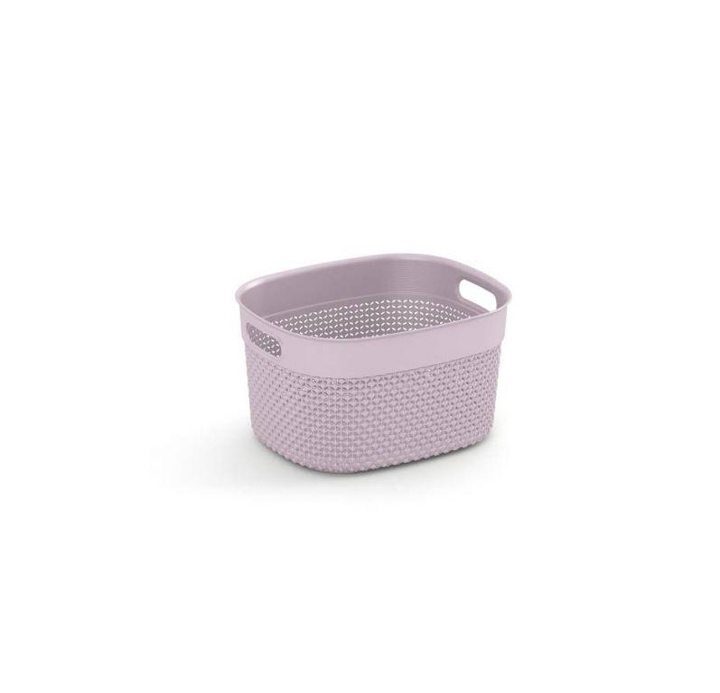 Plastový košík FILO S - růžový