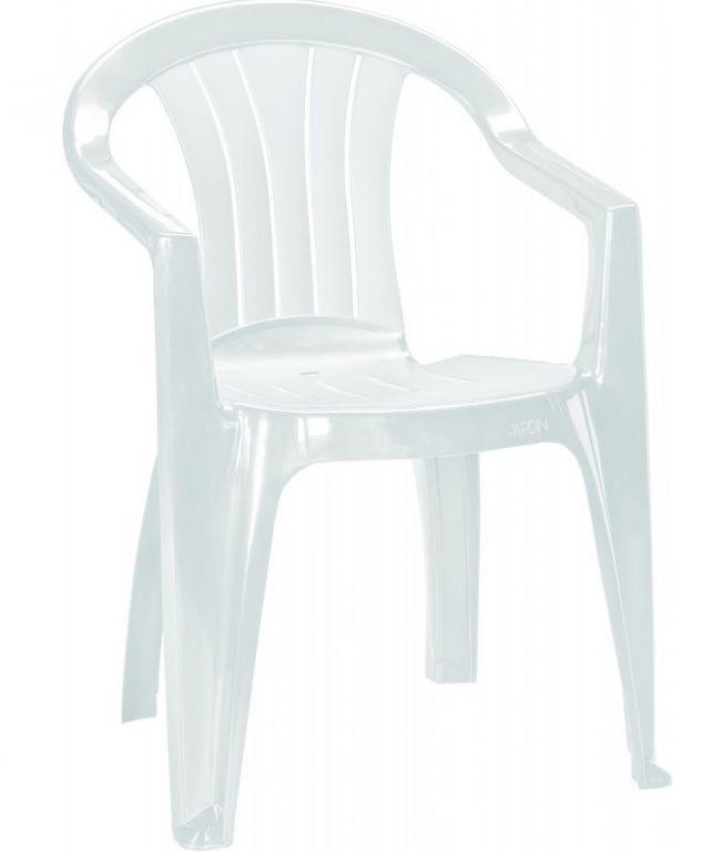 Zahradní plastové křeslo SICILIA bílá