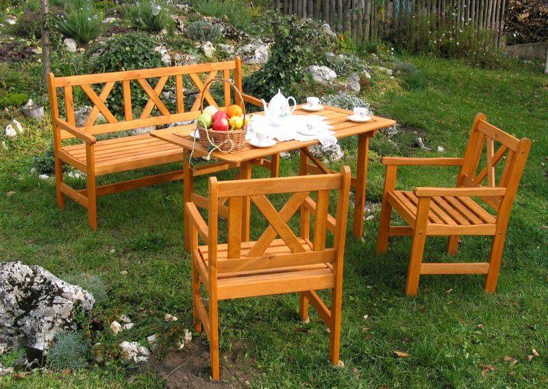 Zahradní set 2 křesel ALPEN oranžová FSC