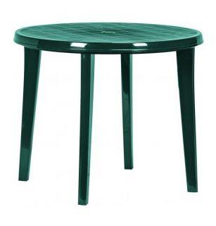 Zahradní plastový stůl LISA 90 cm zelená