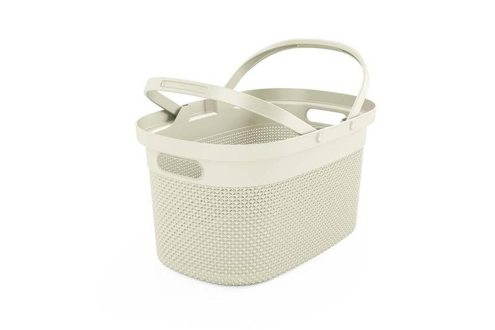 Plastový košík FILO – krémový