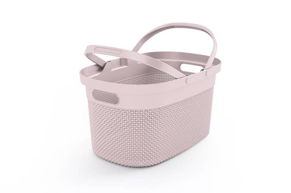 Plastový košík FILO  - růžový