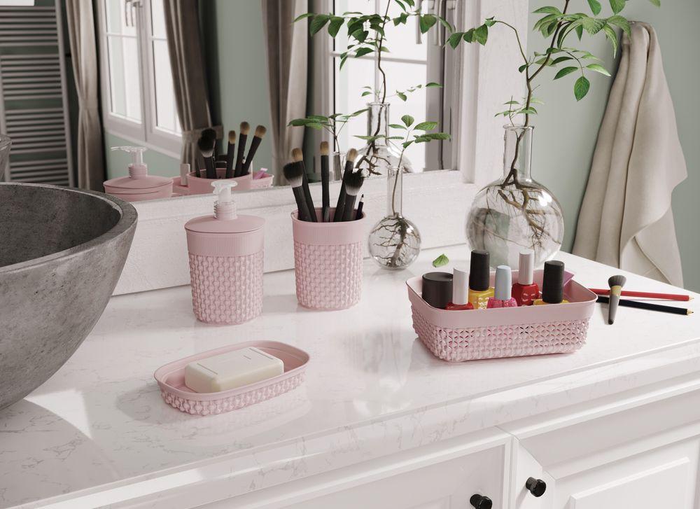 Plastový kelímek na kartáčky FILO – růžový