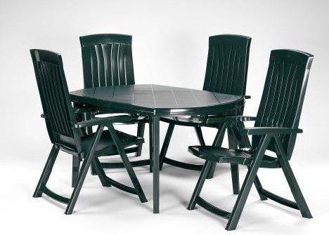 Zahradní plastový stůl ELISE zelený